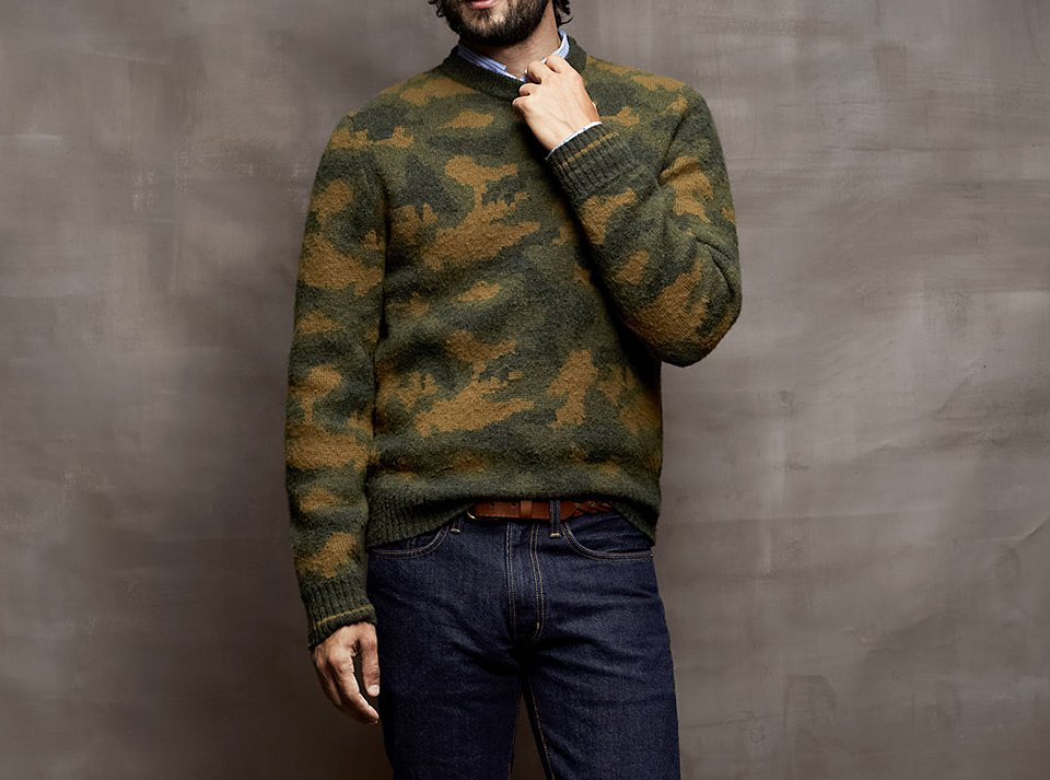 Camo Lambswool Sweater