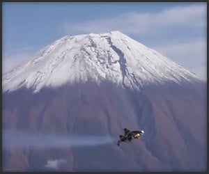 Jetman over Mount Fuji