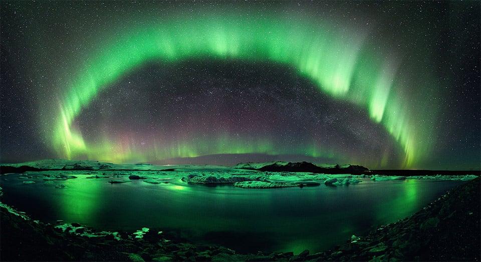 "Aurora Borealis: Jökulsárlón Glacier Lake, Iceland (image: <a href=""http://apod.nasa.gov/apod/ap110517.html"" target=""_blank"">Stephane Vetter</a>)"