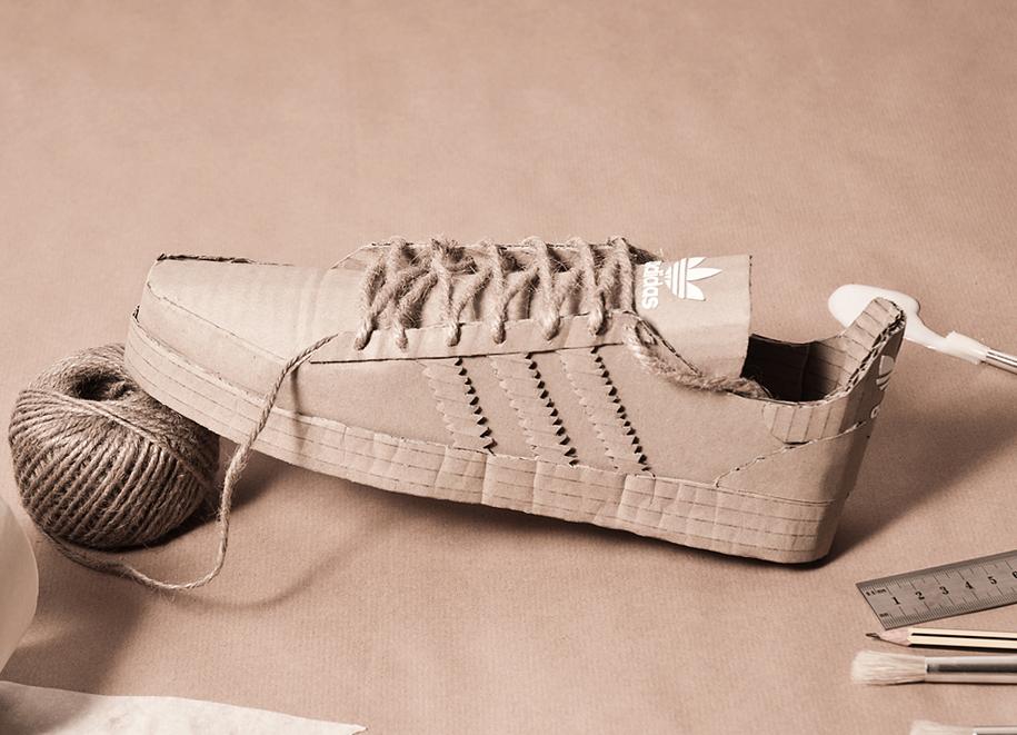 Cardboard Adidas Shoes