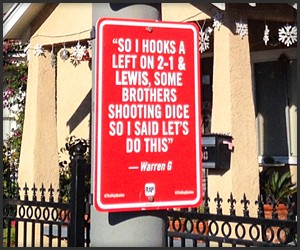 Rap Quotes Street Signs 2