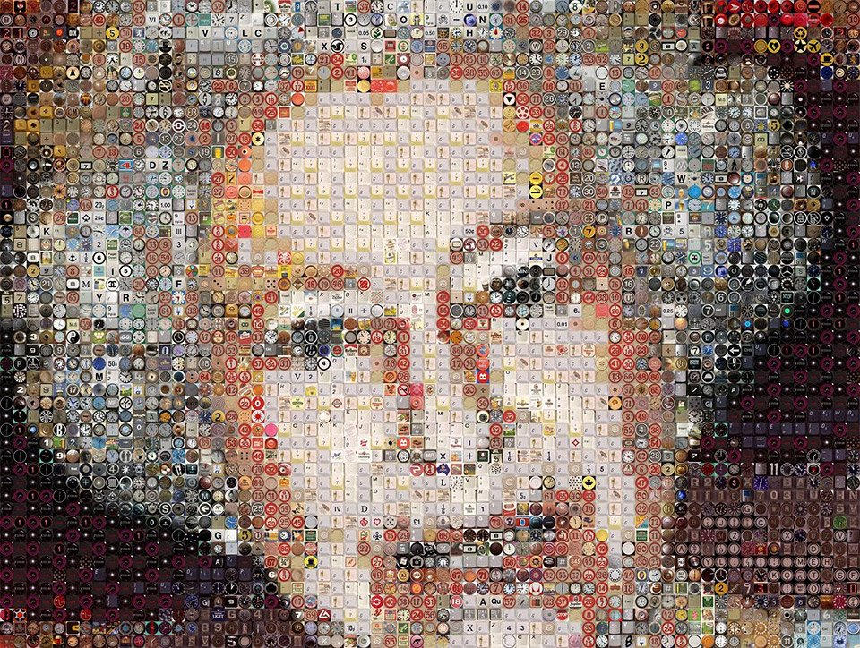 Keyboard Photomosaics
