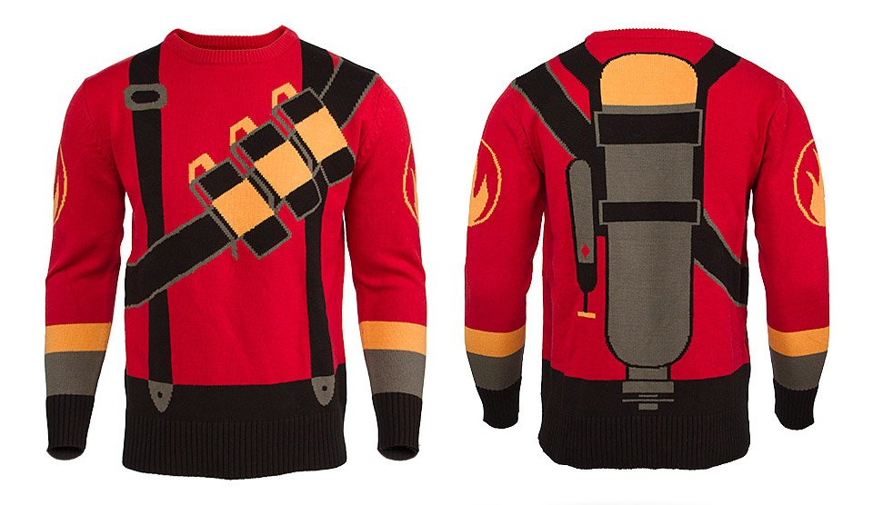 Team Fortress Red Pyro Sweater