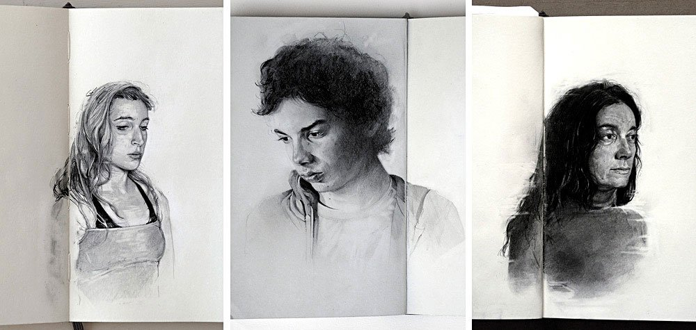 Graphite Portraits of Friends