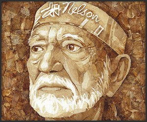 Willie Nelson Roach Paper Art