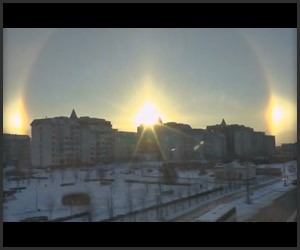 Sun Dogs over Moscow