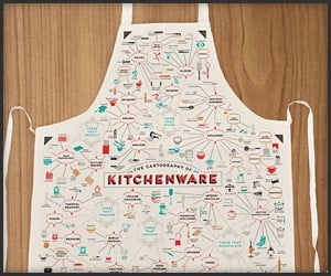 Cartography of Kitchenware Apron