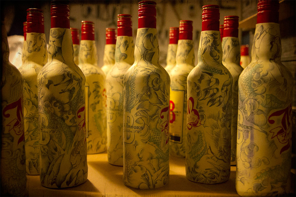 J&B Tattooed Edition Bottles