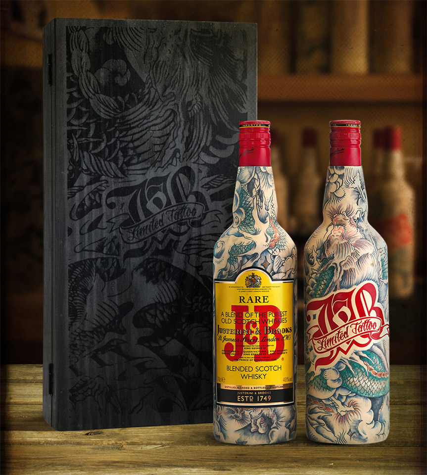 J&B Tattooed Edition Bottles