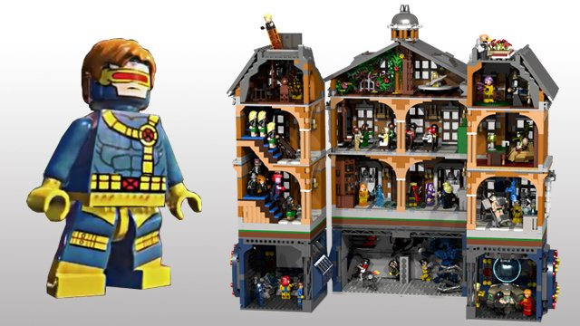 LEGO X-Men X-Mansion Concept - The Awesomer