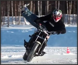 Motorcycle Ice Drifting