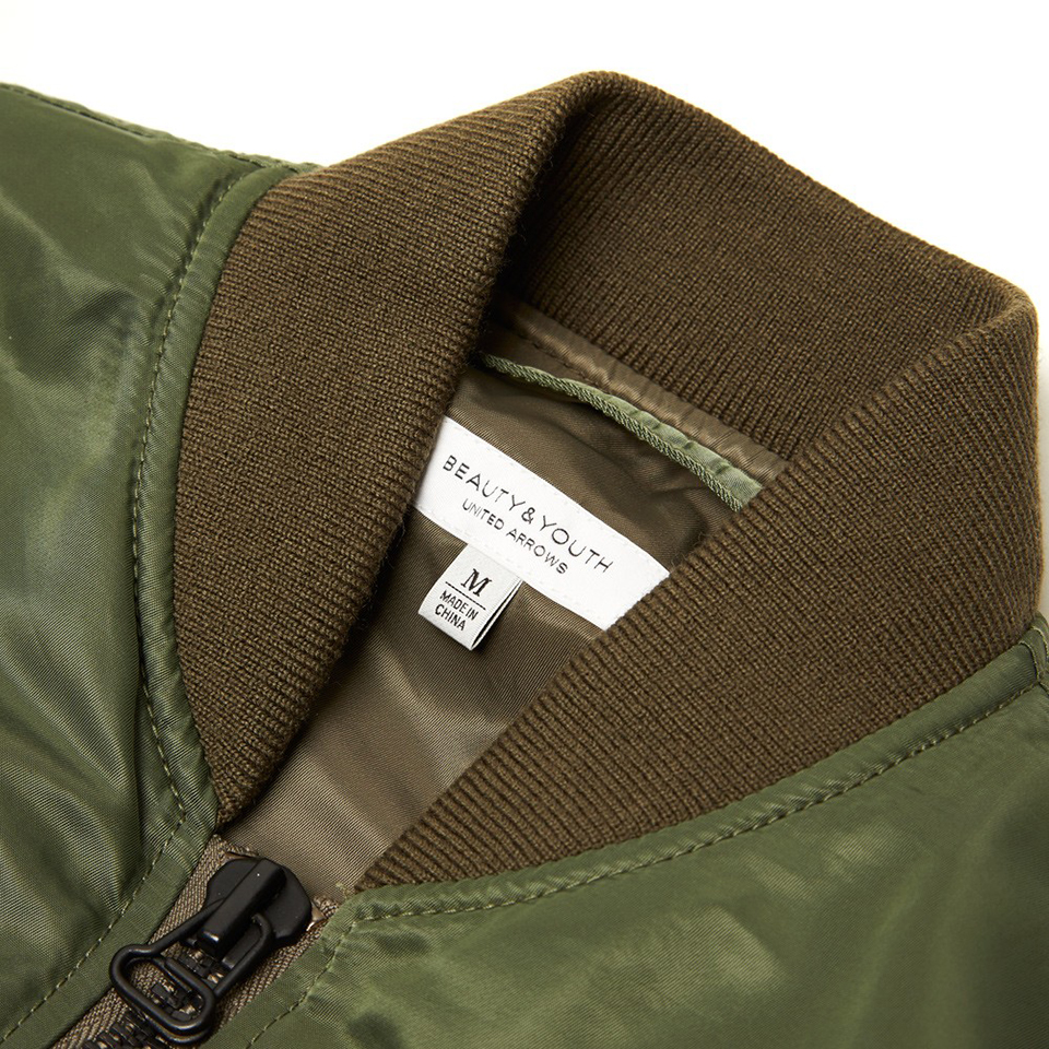 Beauty & Youth MA-1 Olive