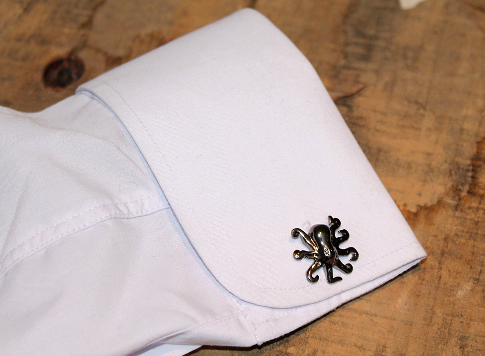 Black Octopus Cufflinks