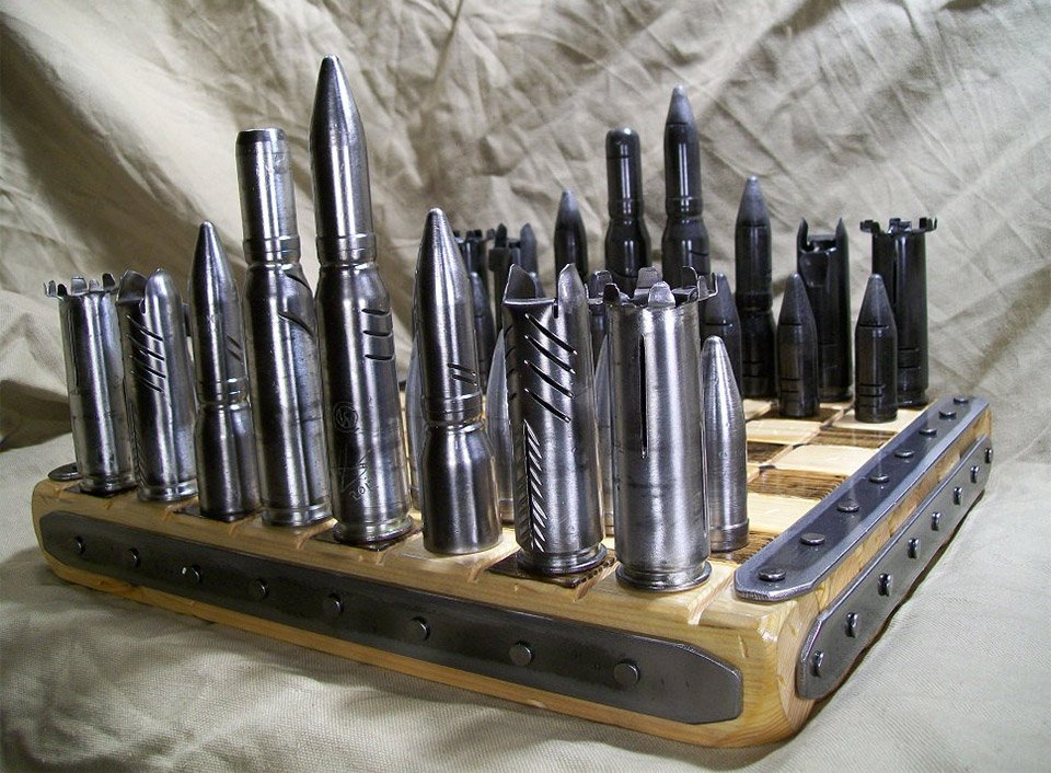 Bullet Chess Sets - The Awesomer