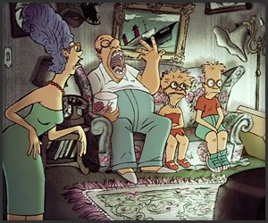 The Simpsons x Sylvain Chomet