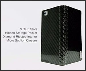 Hinged Carbon Fiber Wallets