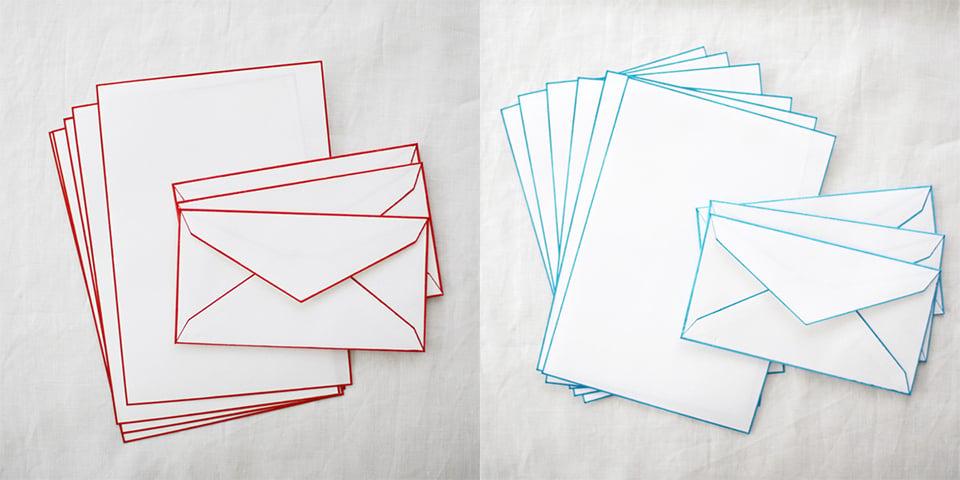 Color Rimmed Washi Letter Set