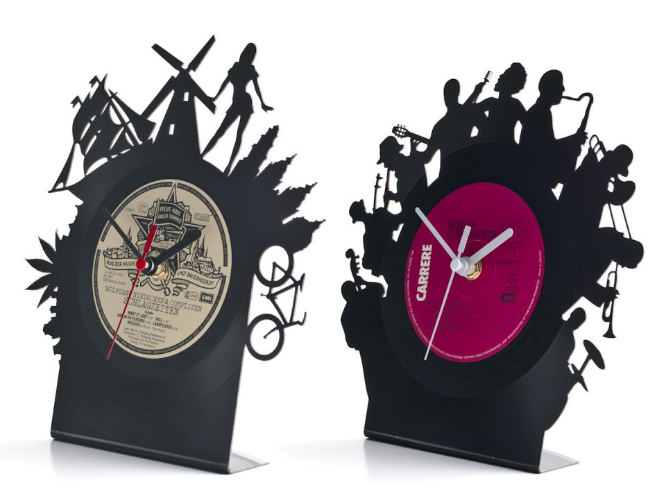 Re_Vinyl Cut-out Clocks