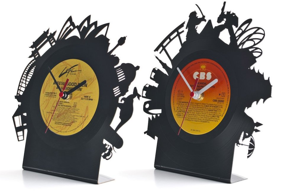 Re_Vinyl Cut-out Clocks