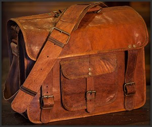 Roosevelt Camel Leather Bag