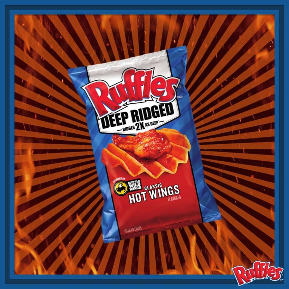 Ruffles Hot Wing Chips
