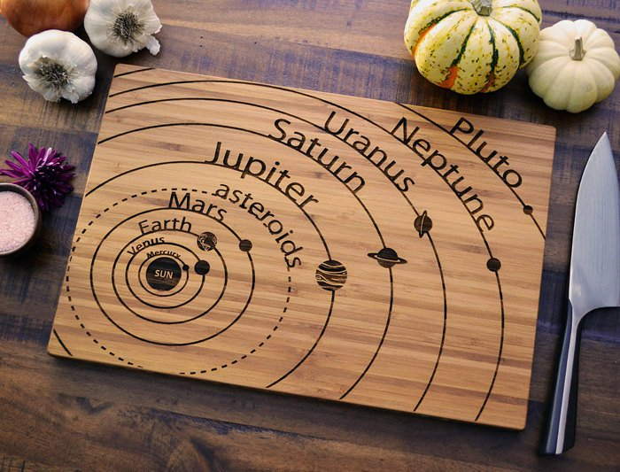 Solar System Cutting Board