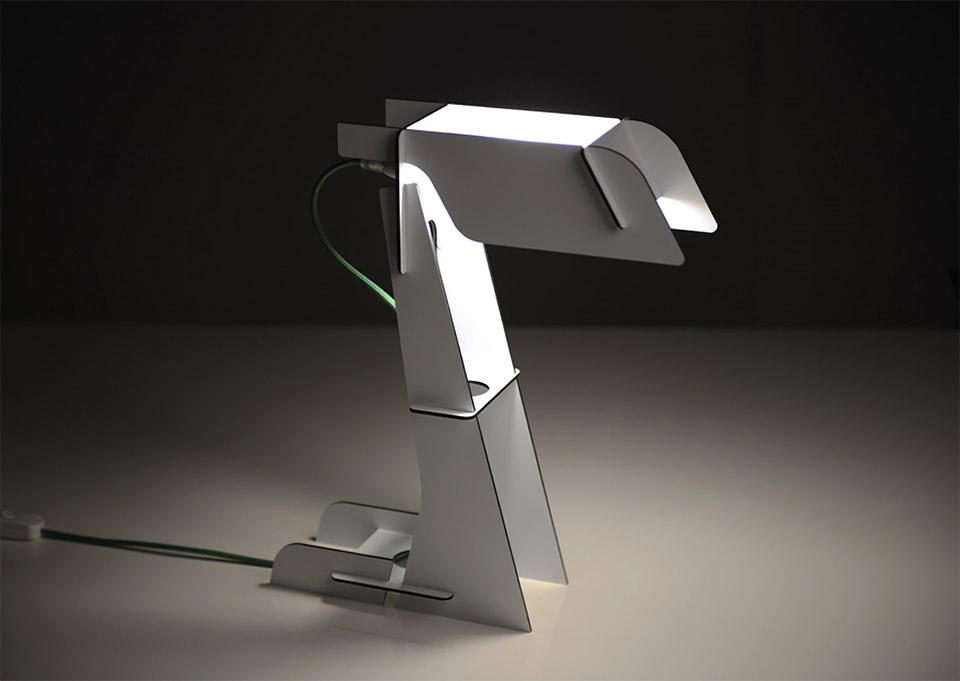 Zeta Aluminum Flat-Pack Lamp