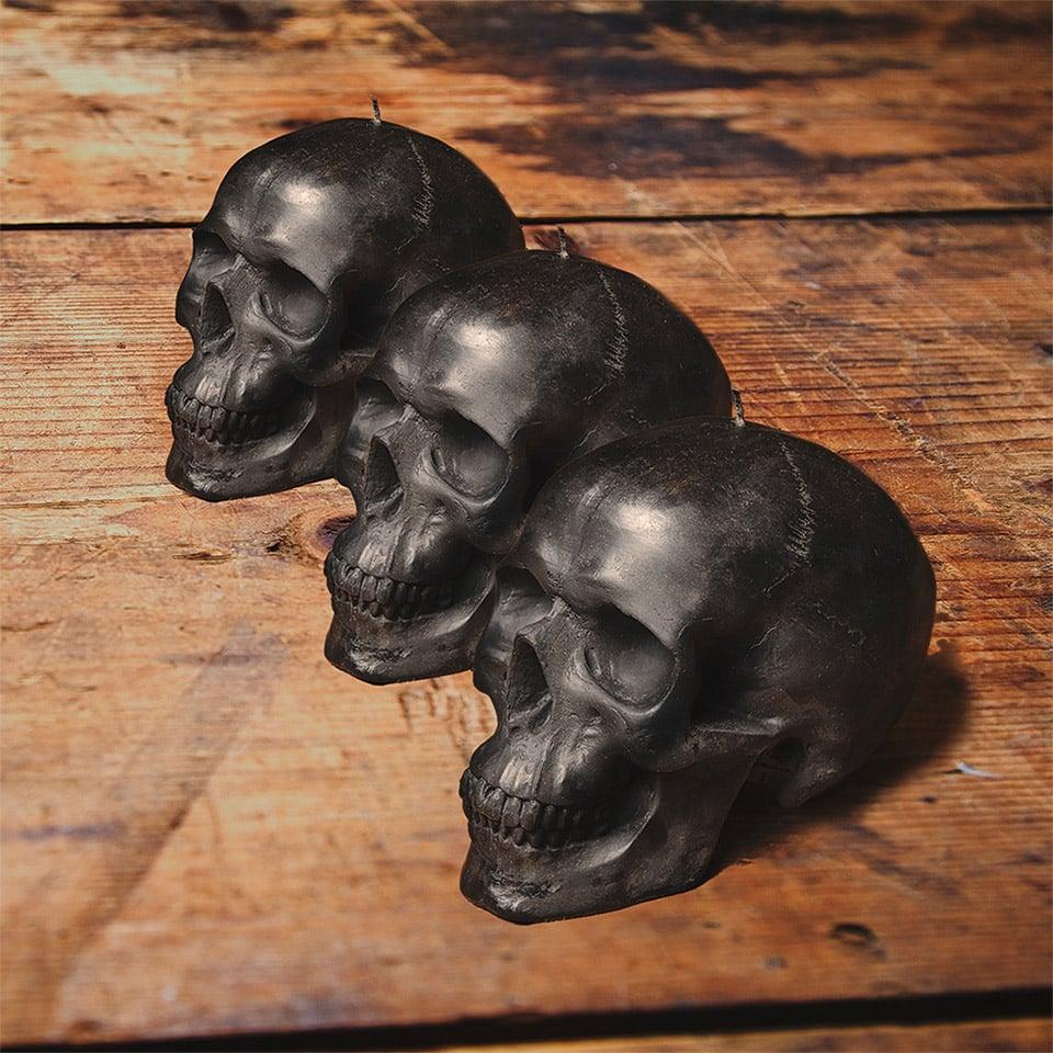Black Skull Candles
