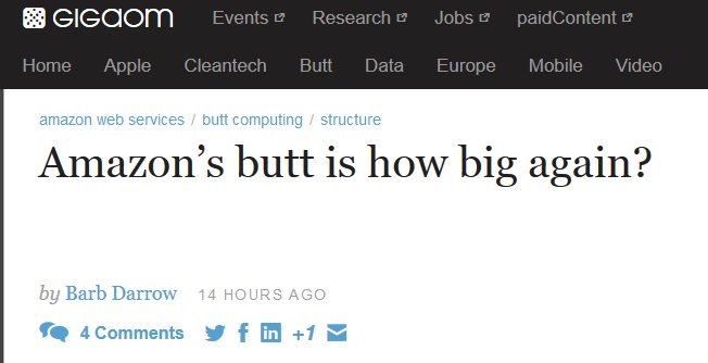 Cloud to Butt