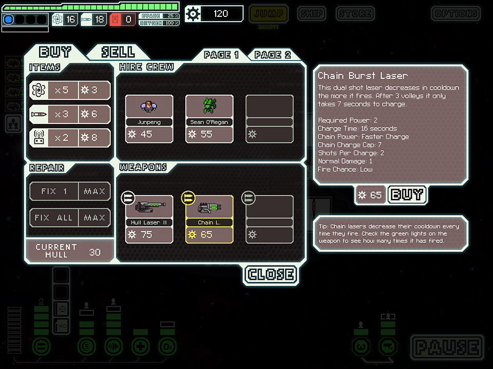 FTL: Faster Than Light for iPad