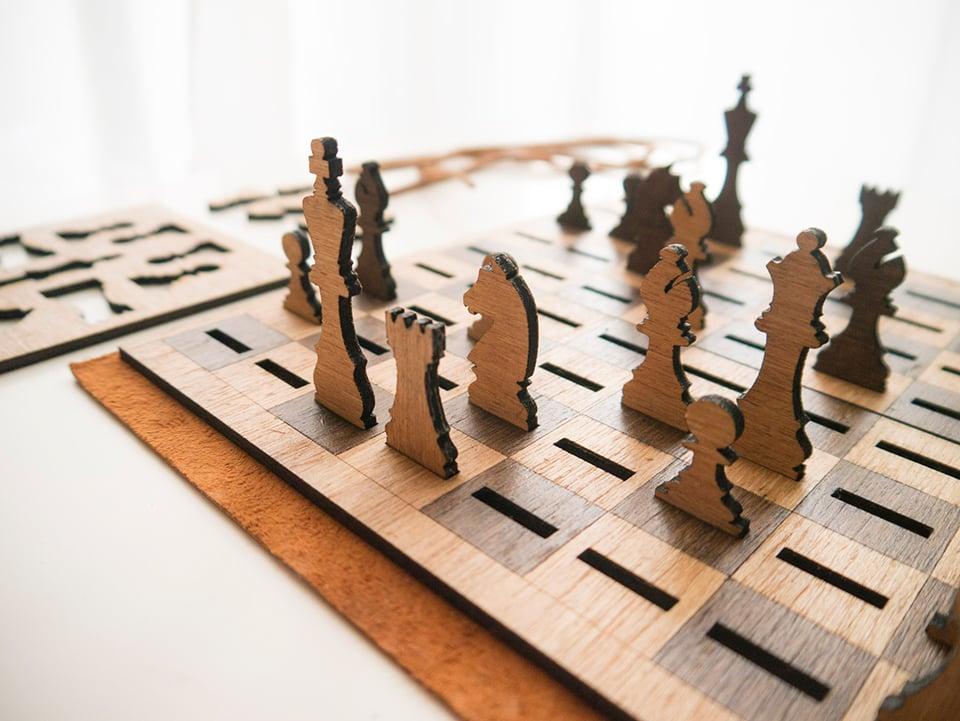 Got Chess? Flat Chess Set