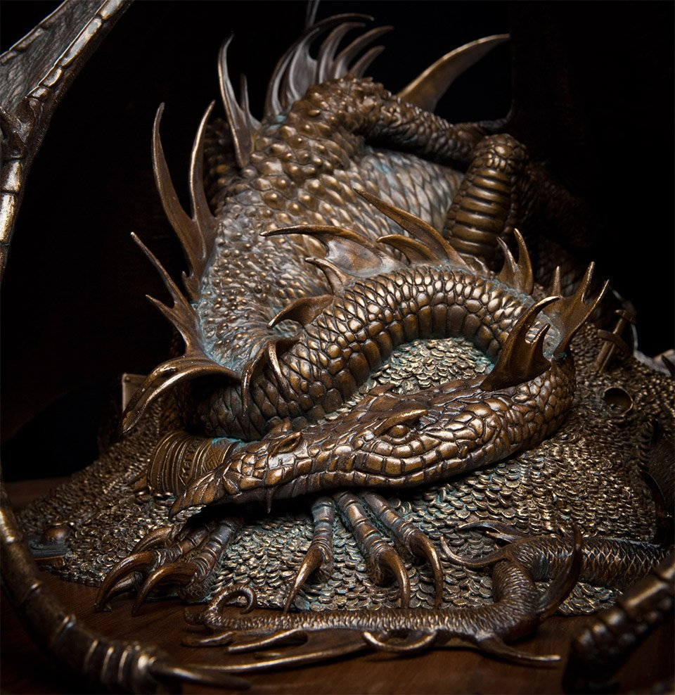 Bronze Smaug Sculpture