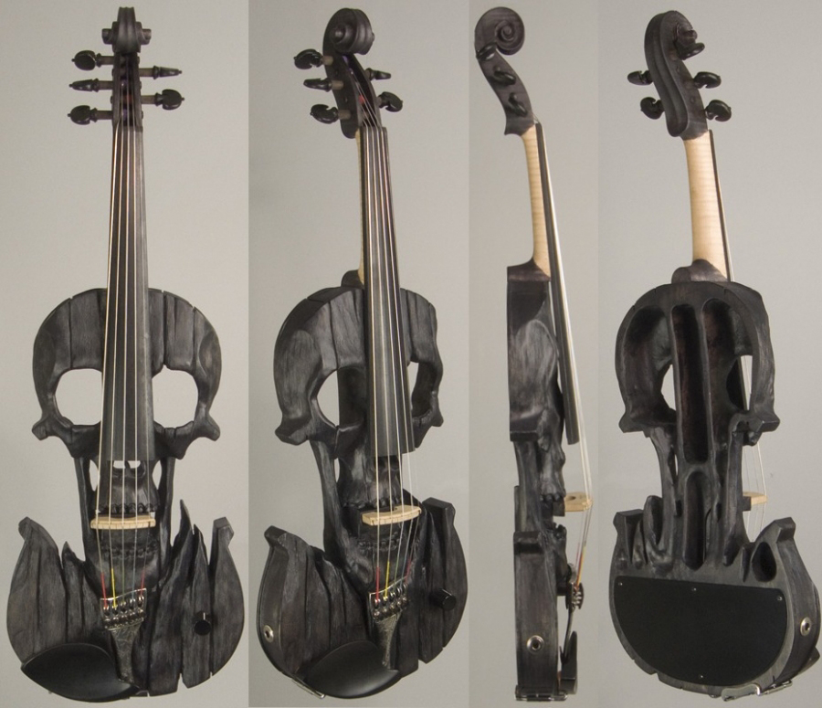 Straton Skull Violins The Awesomer