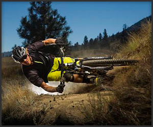 Mountain Bike Goes Horizontal