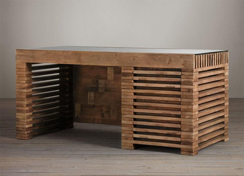 Reclaimed Timber Slat Desk