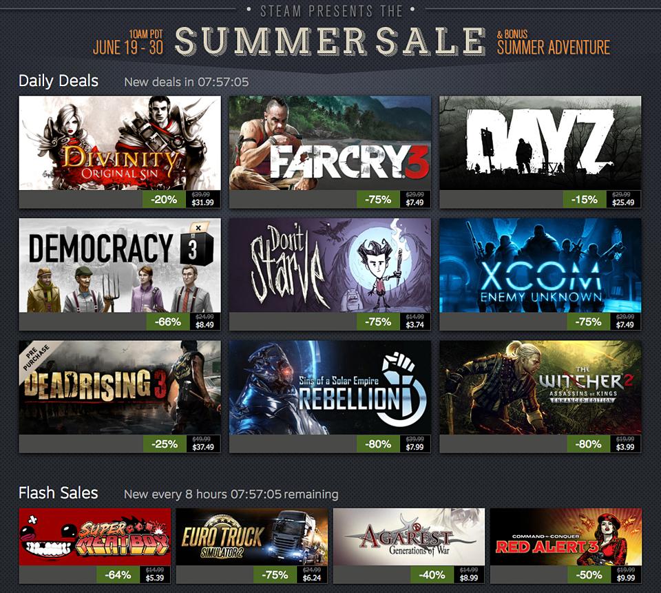 Summer Sale 2014 2014 Steam Summer Sale