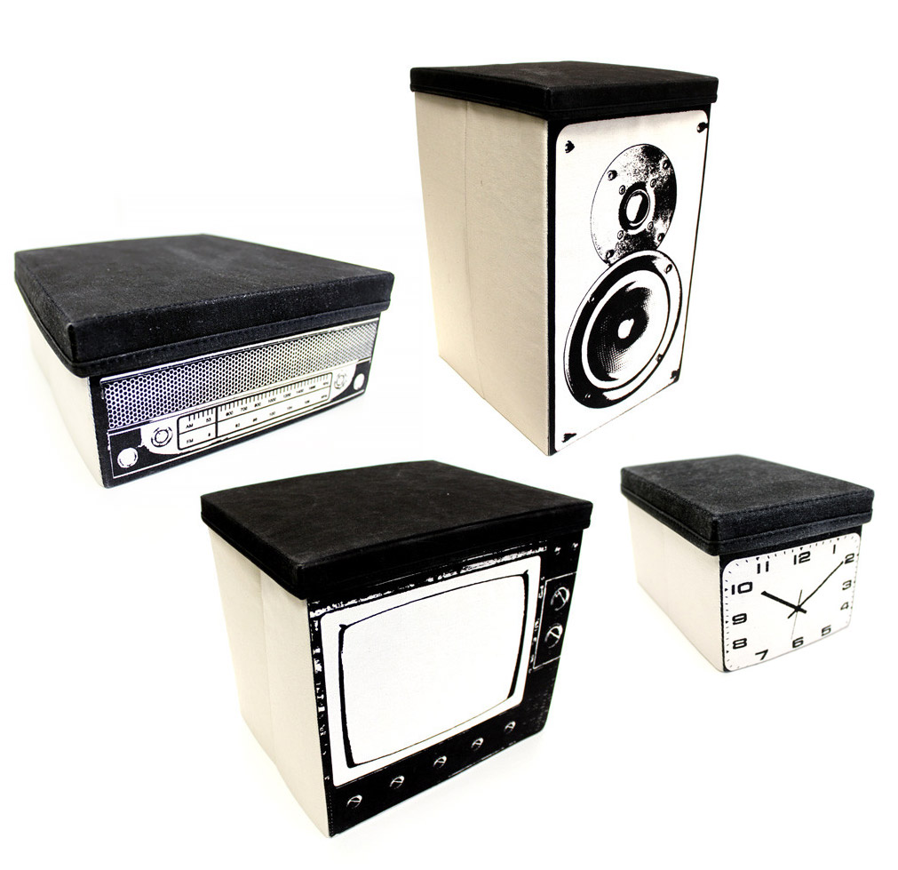 Home Entertainment Storage Bins