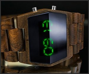 Kisai Xtal Wood LED Watch