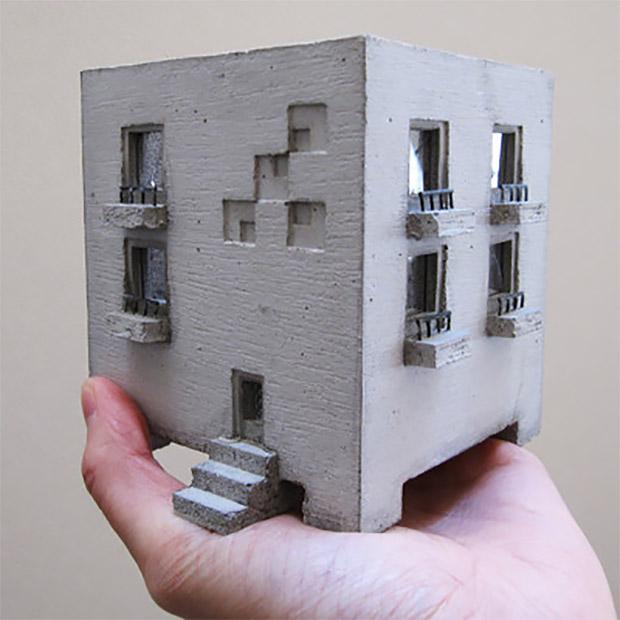 Mansion Concrete Planter