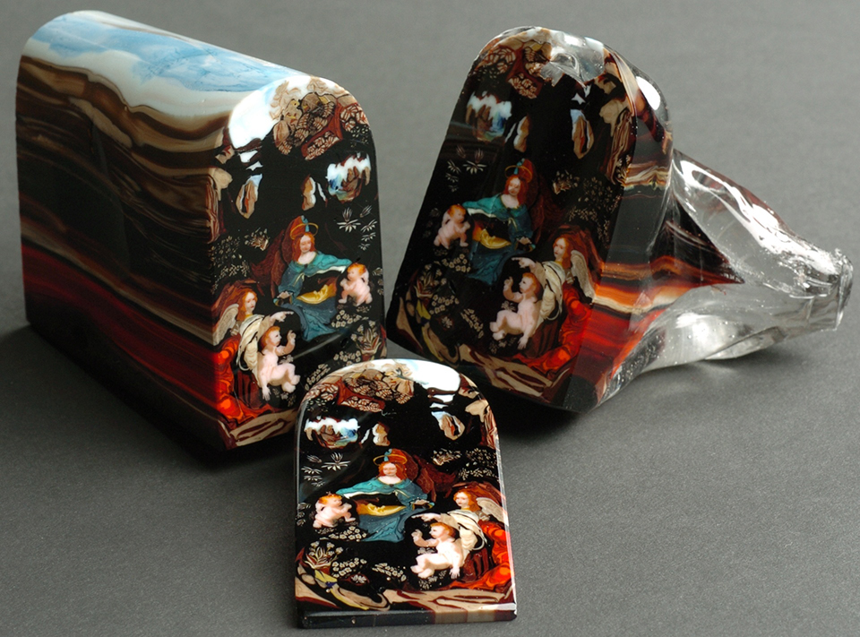 Sliced Glass Paintings