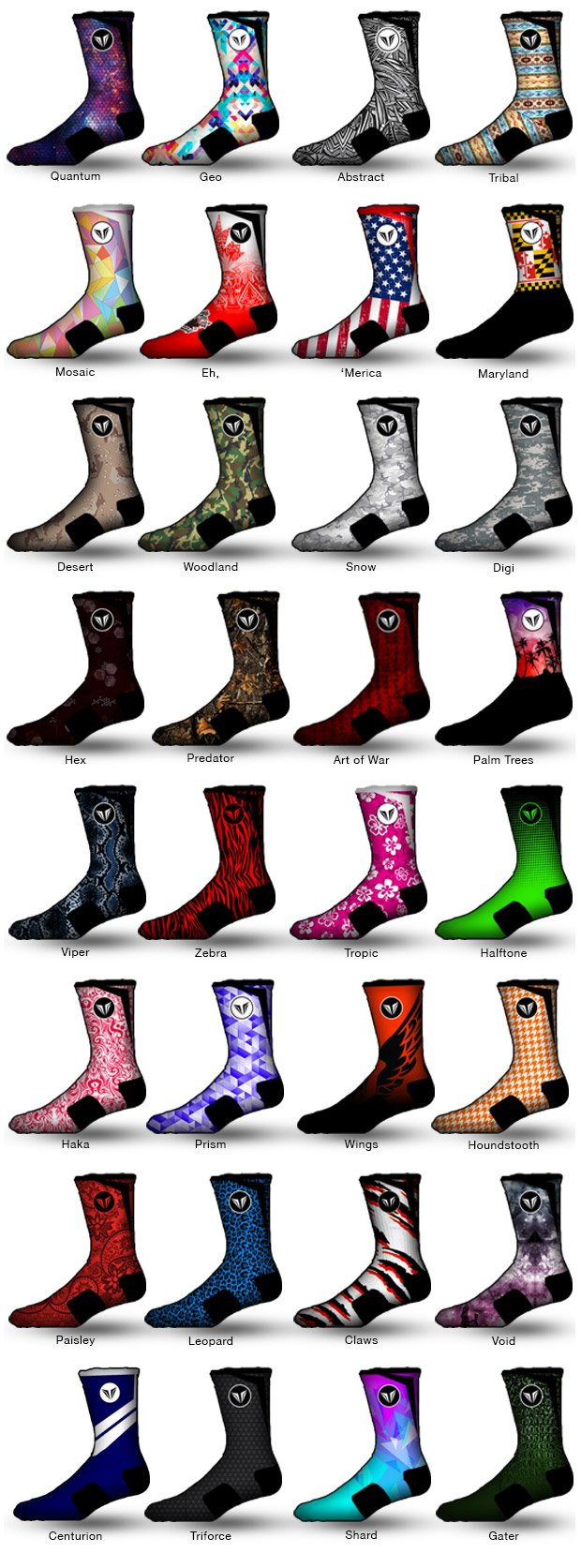 Vision Wear Athletic Socks