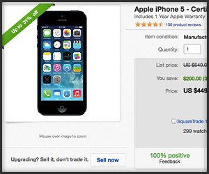 Apple's eBay iPhone 5 Store