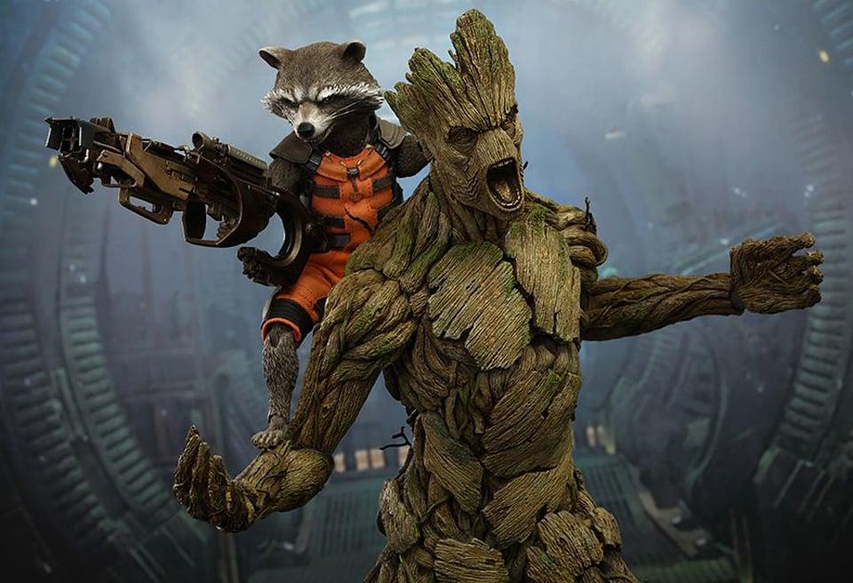 Hot Toys Groot & Rocket Raccoon