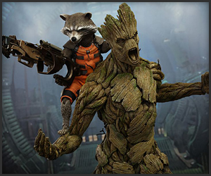 Hot Toys Groot & Rocket Raccoon