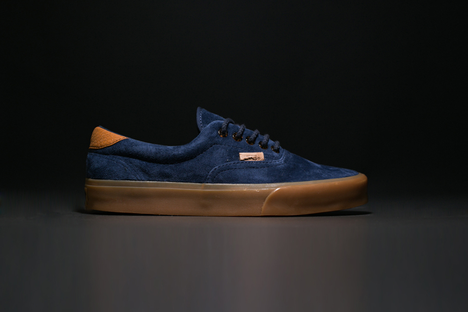 Vans gives the Era 59 a pig suede and snakeskin-themed makeover for summer.  The suede upper contrasts nicely with the tortoise shell-colored eyelets  and ... f0ea269610