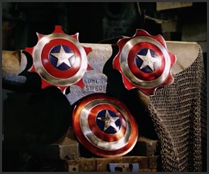 Captain America Throwing Shields