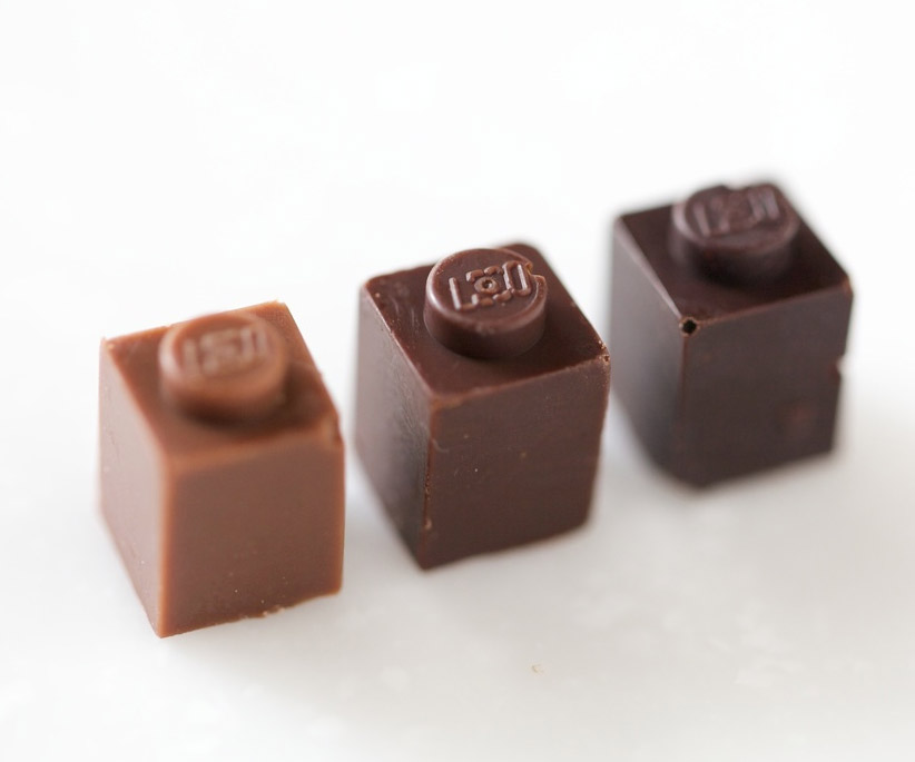 Chocolate LEGO Bricks