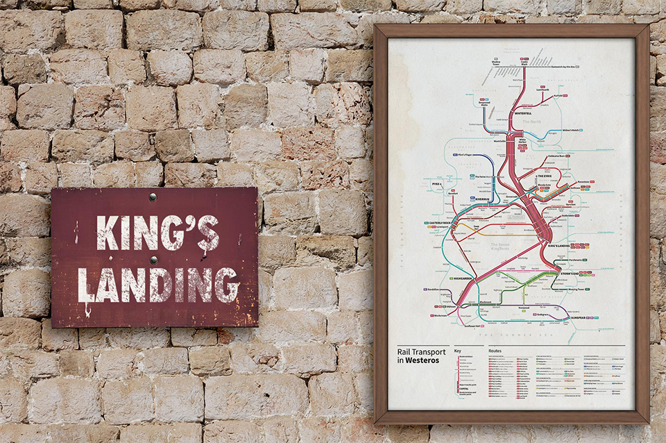 Game of Thrones Subway Maps