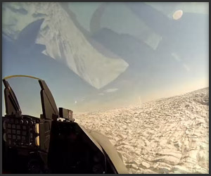 F16 over Greenland