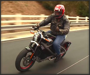 Leno Rides the Harley LiveWire